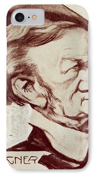 Caricature Of Richard Wagner Phone Case by Anonymous
