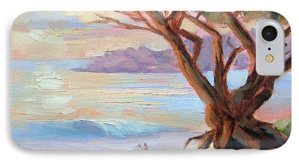 Carmel Beach Winter Sunset IPhone Case by Karin  Leonard