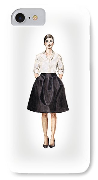 Carolina Herrera Classic Look IPhone 7 Case by Jazmin Angeles