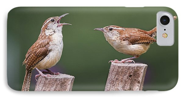 Carolina Wren Serenade IPhone Case by Bonnie Barry