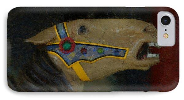 Carousel Horse Painterly 2 Phone Case by Ernie Echols