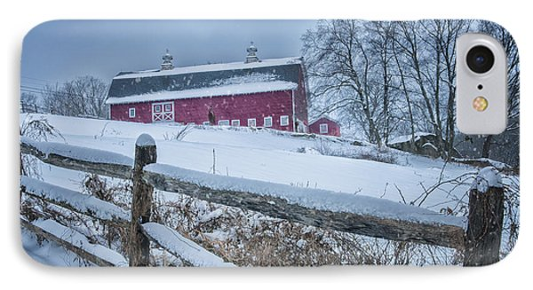 Carter Farm - Litchfield Hills Winter Scene Phone Case by Thomas Schoeller