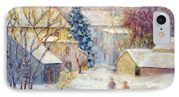 Carversville Snow Phone Case by Pamela Parsons