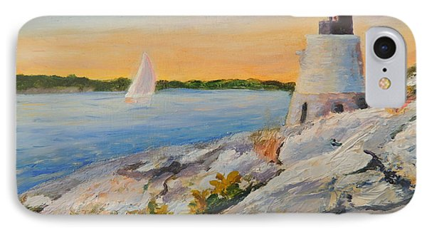 Castle Hill Light House Newport Ri Phone Case by Patty Kay Hall