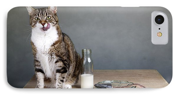 Cat And Herring IPhone Case by Nailia Schwarz