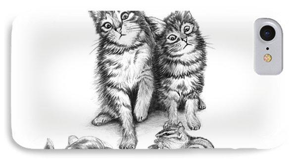Cat Chips  IPhone Case by Peter Piatt