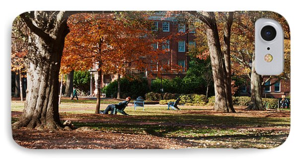 Catching Rays - Davidson College IPhone Case by Paulette B Wright