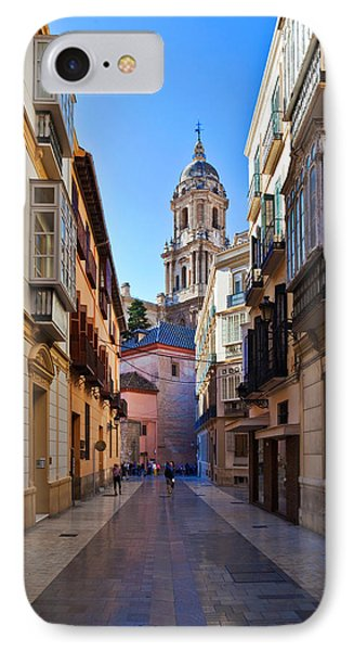 Cathedral De La Encarnation De Malaga IPhone Case by Panoramic Images