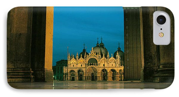 Cathedral Lit Up At Dusk, St. Marks IPhone Case by Panoramic Images