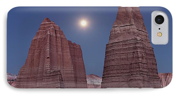 Cathedral Valley Moonrise IPhone Case by Leland D Howard