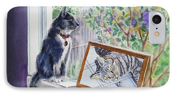 Cats And Mice Sweet Memories IPhone Case by Irina Sztukowski