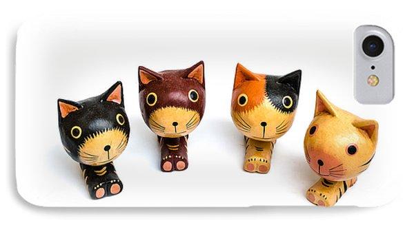 Cats Doll Phone Case by Suntasit Fhakthap