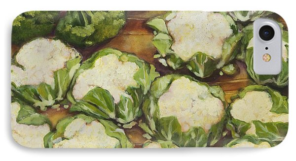 Cauliflower March IPhone Case by Jen Norton