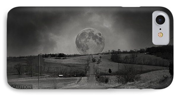 Caution Beautiful Moon Rise Ahead IPhone Case by Betsy Knapp
