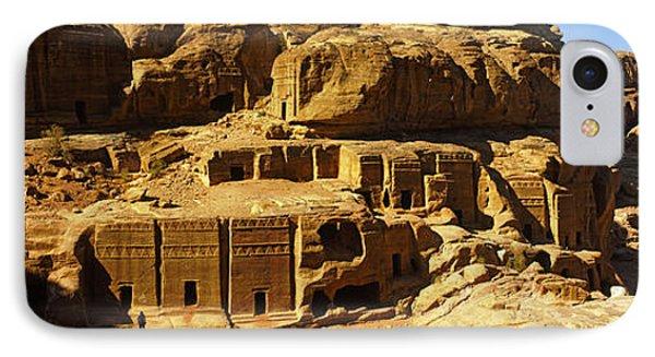 Cave Dwellings, Petra, Jordan IPhone Case by Panoramic Images