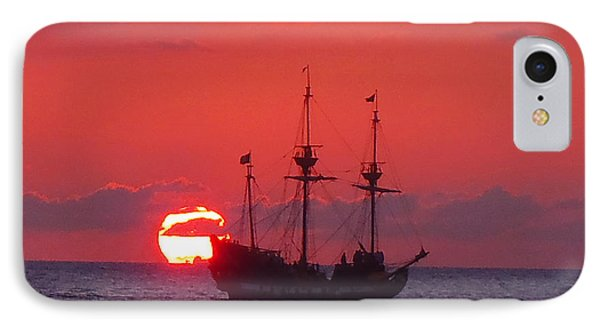 Cayman Sunset IPhone Case by Carey Chen