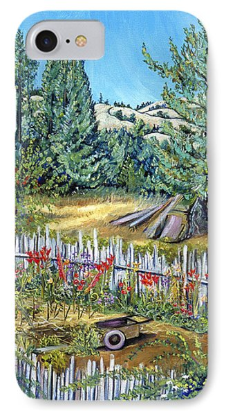 Cazadero Farm And Flowers Phone Case by Asha Carolyn Young