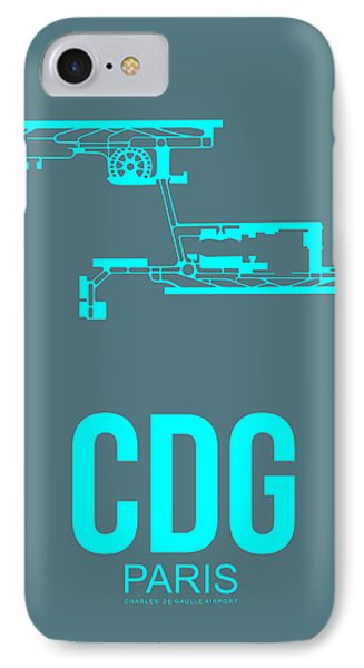 Cdg Paris Airport Poster 1 IPhone 7 Case by Naxart Studio