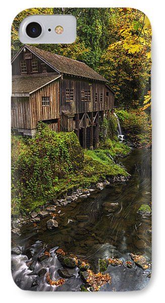 Cedar Creek Grist Mill 2 IPhone Case by Mark Kiver