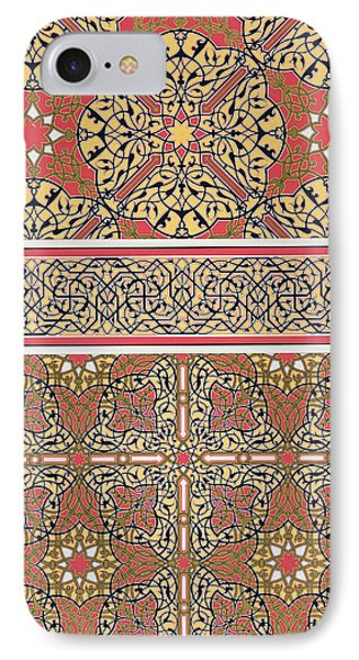 Ceiling Arabesques From The Mosque Of El-bordeyny IPhone Case by Emile Prisse d Avennes