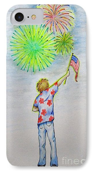 Celebrate America IPhone Case by Catherine Howley
