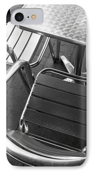 Chair And Table IPhone Case by Joe Kozlowski