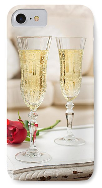 Champagne And Rose IPhone Case by Amanda Elwell
