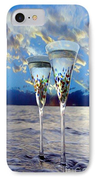Champagne At Sunset IPhone Case by Jon Neidert