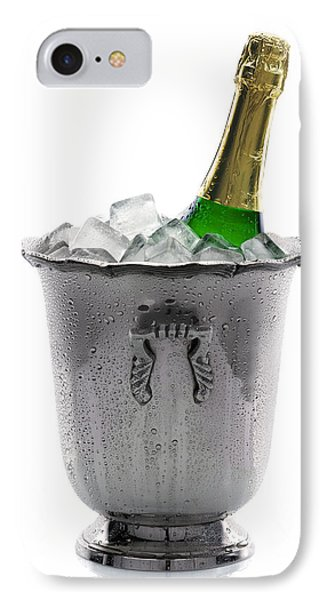 Champagne Bottle On Ice IPhone Case by Johan Swanepoel