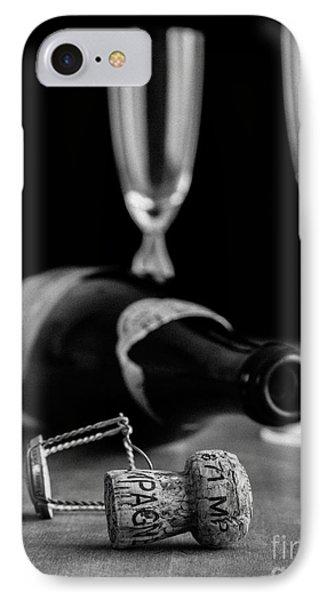Champagne Bottle Still Life IPhone Case by Edward Fielding