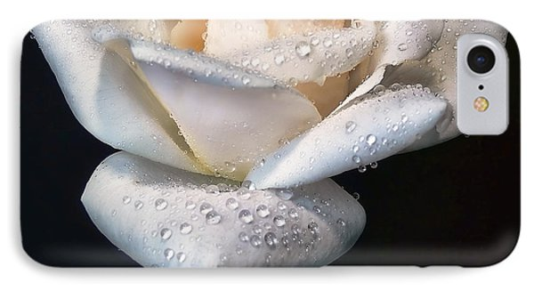 Champagne Rose Flower Macro Phone Case by Jennie Marie Schell