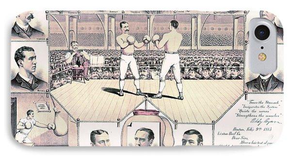 Champion Pugilists 1885 IPhone Case by Padre Art