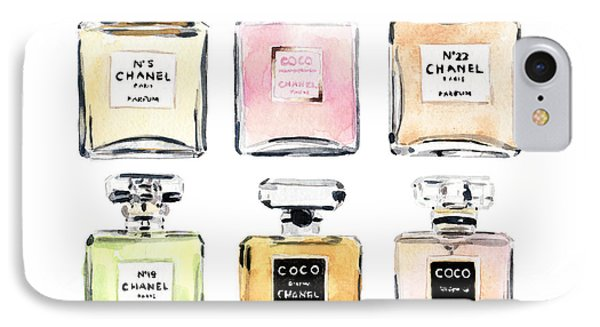Chanel Perfumes IPhone Case by Laura Row Studio