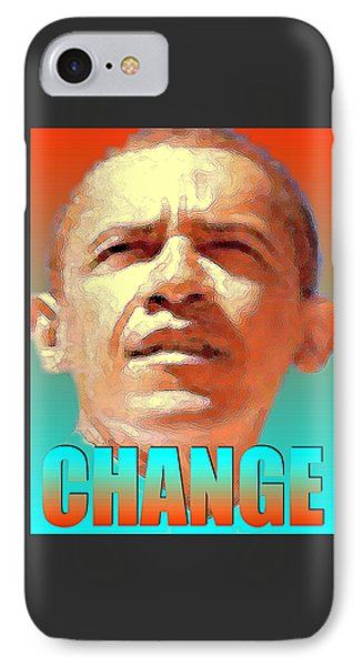 Barack Obama Change - Poster IPhone Case by Art America Online Gallery
