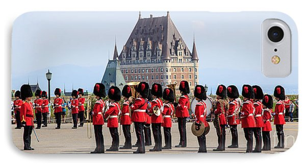 Changing Of The Guard The Citadel Quebec City Phone Case by Edward Fielding