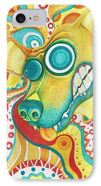 Chaotic Canine Phone Case by Shawna Rowe