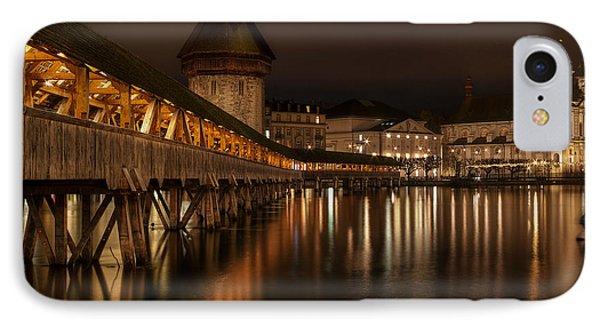 Chapel Bridge Lucerne Phone Case by Caroline Pirskanen