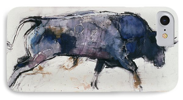Charging Bull IPhone Case by Mark Adlington