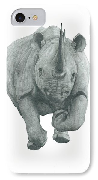 Charging Rhino IPhone Case by Rich Colvin