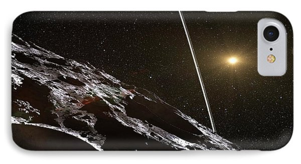 Chariklo Minor Planet And Rings IPhone Case by European Southern Observatory