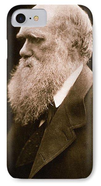 Charles Darwin Phone Case by Julia Margaret Cameron