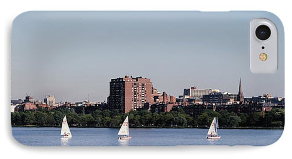 Charles River Skyline Boston Ma IPhone Case by Panoramic Images