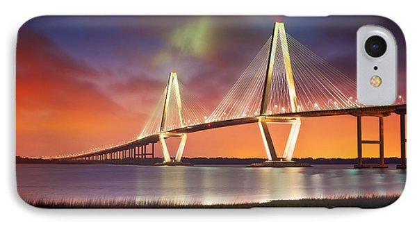 Charleston Sc - Arthur Ravenel Jr. Bridge Cooper River IPhone Case by Dave Allen