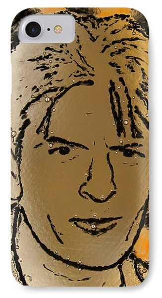 Charlie Sheen Phone Case by Gaby Tench
