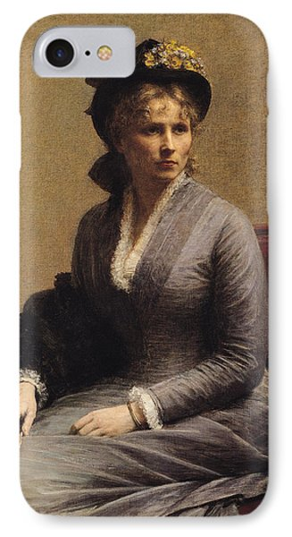Charlotte Dubourg  IPhone Case by Ignace Henri Jean Fantin-Latour
