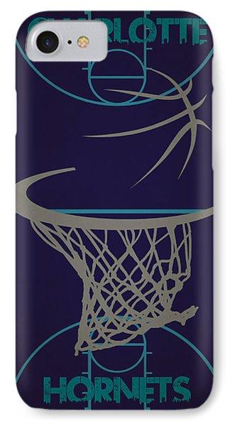 Charlotte Hornets Court IPhone Case by Joe Hamilton