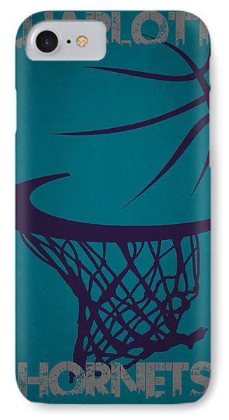 Charlotte Hornets Hoop IPhone Case by Joe Hamilton