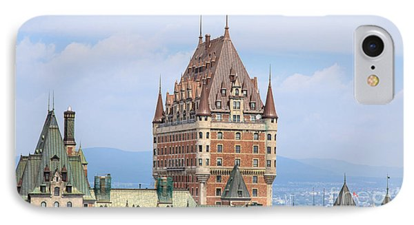 Chateau Frontenac Quebec City Canada IPhone Case by Edward Fielding
