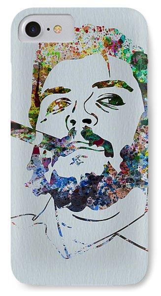 Che Watercolor IPhone Case by Naxart Studio