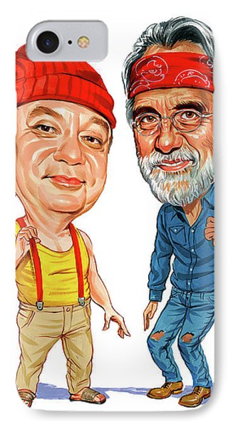 Cheech Marin And Tommy Chong As Cheech And Chong IPhone Case by Art